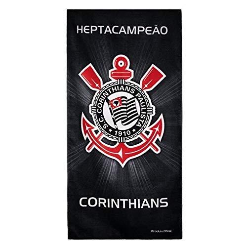Toalha Buettner Veludo Estampado Corinthians Heptacampeão 140d98e8ff596