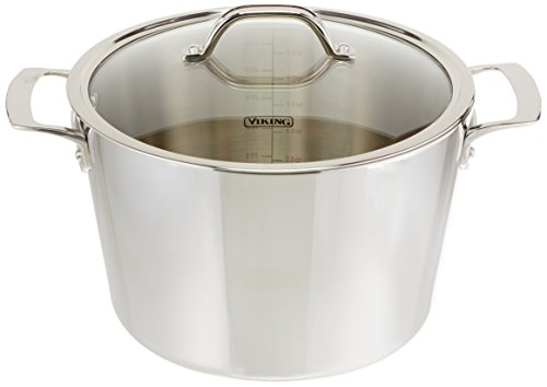 Viking Contemporary 3-Ply Stainless Steel Stockpot with Lid, 8 Quart by Viking Culinary