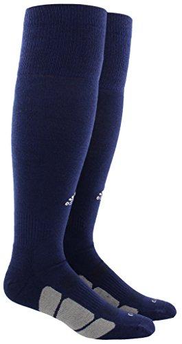 adidas Utility All Sport Socks (1-Pack), Dark Blue/White/Light Onix, Large