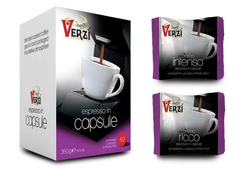 Café Verzi 100 cápsulas Aroma Intenso compatible con las máquinas de café Lavazza Firma. Esta