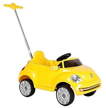 Für Kinder ab 1 Jah ROLLPLAY Push Car mit ausziehbarer Fußstütze Gelb