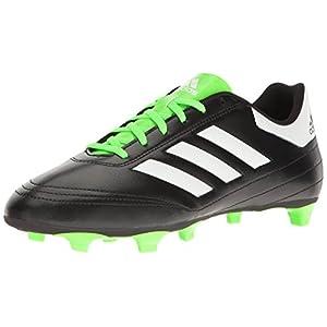 adidas Originals Men's Goletto VI FG Soccer Shoe, Black/White/Solar Green, 8 M US