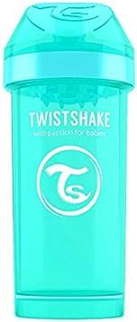 Twistshake 78075 Mug Kid Pastel 360 Botella cun Boquilla, 12 Meses +, Turquesa (Mint Green)