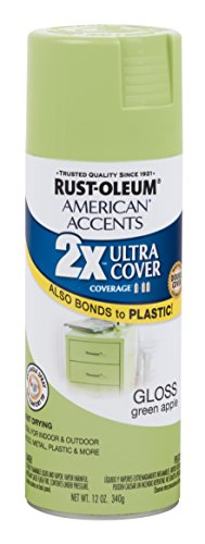 Rust-Oleum 285001 American Accents Ultra Cover 2X Satin, Each, Green Apple
