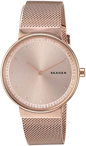- Skagen Women's Annelie Quartz Stainless Steel and Mesh Watch Color: Rose Gold, (Model: SKW2751)