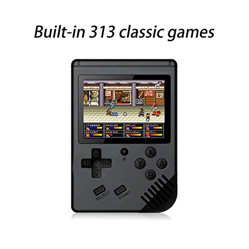 CHAONATECH Handheld Game Console, Portable Video Game 3 Inch HD Screen 313 Classic Games,Retro Game Console Can Play on TV, Good Gifts for Kids to Adult. (Black)