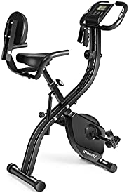iHomey Folding Exercise Bike Indoor Stationary Cycling Bike Magnetic Upright Bicycle with Tablet Holder