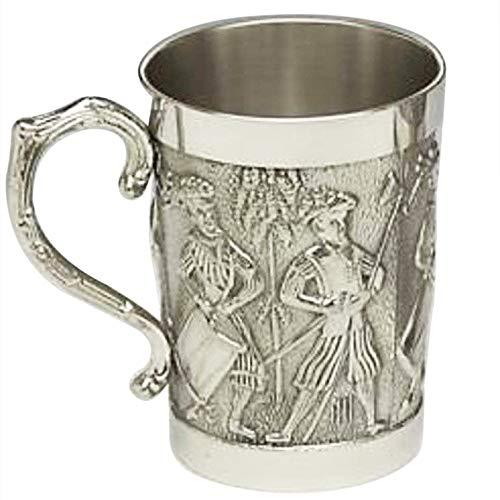 Mullingar Pewter Medieval Irish Tankard - Celtic Engraving - Irish Beer Stein