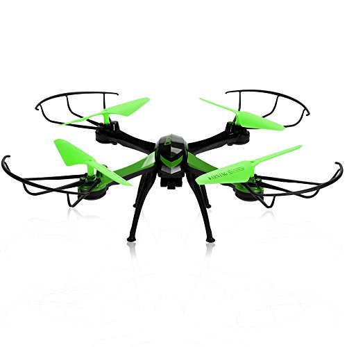 JJRC H98 2.4GHz 4CH 6-Axis Gyro RC Aircraft RC Quadcopter Drone with 0.3MP Camera Kids Toy Drone (Green)