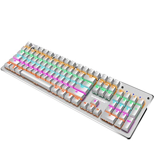 Mechanical 104 Keys Keyboard,sunnymi SUNROSE T610 Blue Switch Mechanical Keyboard Splashproof USB Wired 104 Keys RGB