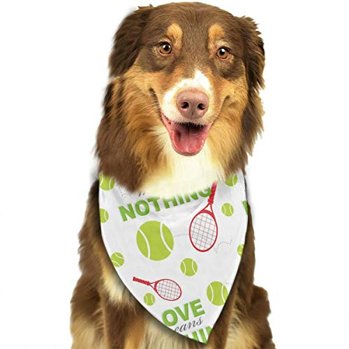 OURFASHION Ennis Love Means Nothing Green Bandana Triangle Bibs Scarfs Accessories for Pet Cats and Puppies]()