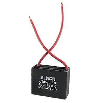 DealMux Deckenventilator Kondensator CBB61 2.5uf 500VAC 2-Draht 50Hz ...