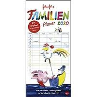 Helme Heine Familienplaner. Wandkalender 2020. Monatskalendarium. Spiralbindung. Format 21 x 45 cm