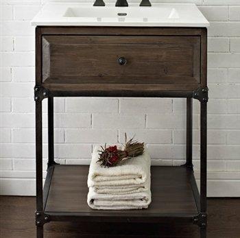 Fairmont Designs 24 Inch Toledo Open Shelf Vanity - Driftwood (Fairmont Bathroom Vanity)