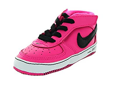 Nike Toddlers Force 1 Gift Pack (CB) Black/Pink Foil/White Casual Shoe 1 Infants US