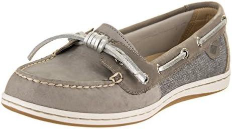 edd3f1dd7995b Sperry Top-Sider Women's Barrelfish Boat Shoe, Grey - 5.5 B(M) US ...