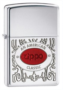 Zippo American Classic Armor High Polish Chrome Lighter by Zippo