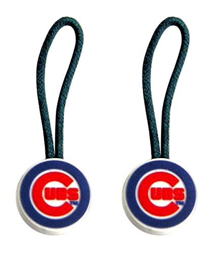 Chicago Cubs Zipper Sports Collegiate Team Logo Pull Charm Tag Luggage Pet Id Set