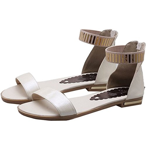 Ankle Simple and Desined with Flat CHICMARK Beige Straps Sandals FwxvqYyC