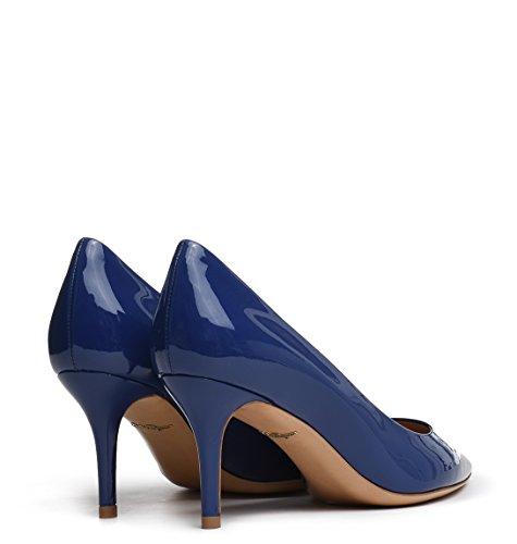 01F3880940634231 Femme Cuir Bleu Ferragamo Salvatore Escarpins x4qzEv