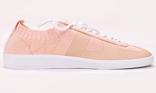 Women's Flat Flyknit Feversole Shoes Fashion Pink wzUwdt