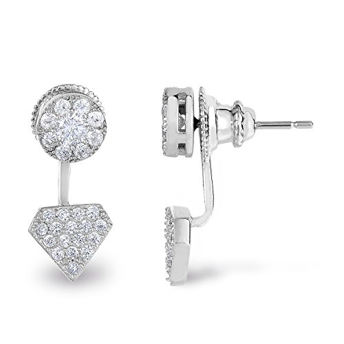Sterling Silver Diamond Earrings Rhodium product image