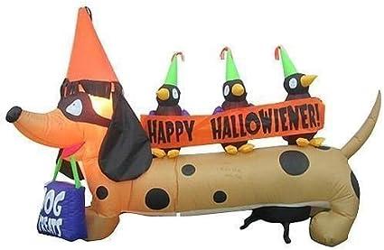 Dachshund Halloween Decorations.6ft Long Gemmy Halloween Dachshund Weiner Dog Airblown Inflatable Amazon Ca Musical Instruments Stage Studio