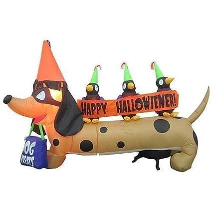 Amazon.com: 6 ft largo. Gemmy Halloween Dachshund Perro de ...