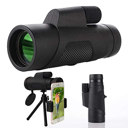 Monocular Telescope, 10X42 High-Definition Water-Proof,Fog-Proof and Shock-Proof Monocular Telescope with Smartphone Adapter and Tripod for Outdoor Bird Watching, Wildlife, Concerts, Trave