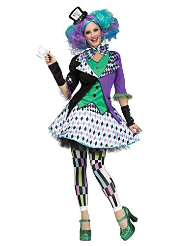 Mad Hatter Halloween Costume (Fun World Women's Mad Hatter Costume, Multi, Small/Medium)