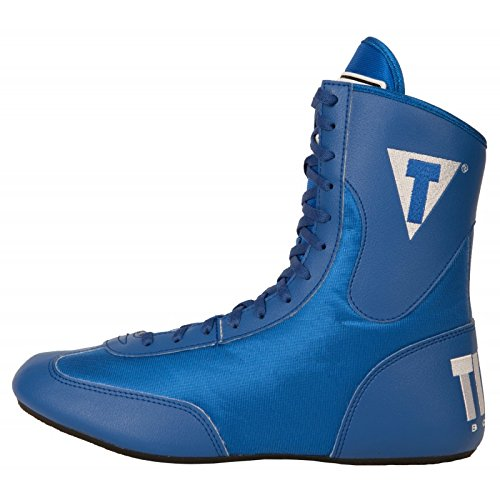Image of the TITLE Speed-Flex Encore Mid Boxing Shoes, Blue, 10