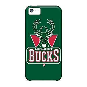Tpu Case Cover Compatible For Iphone 5c/ Hot Case/ Nba Milwaukee Bucks