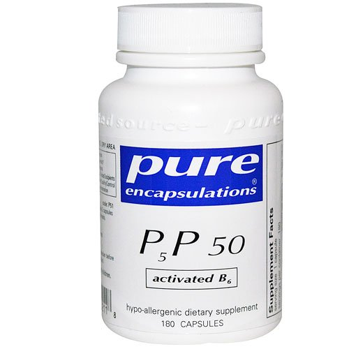 Pure Encapsulations P5P 50 - Activated Vitamin B6 -- 180 Capsules - 3PC by Pure Encapsulations