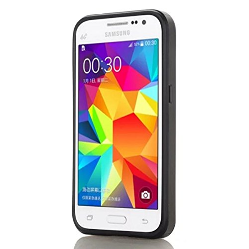 Samsung Galaxy Grand Prime G530 Funda, adorehouse Billetera Estuche Case [Anti Scratch] [Heavy Duty] [Ranura para tarjetas] Dual Layer Hybrid Rubber Bumper Funda protectora para Samsung Galaxy Grand P Negro