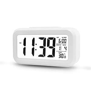 Digital Alarm Clock, Airsspu Electronic Talking Alarm Clocks for Kids,Teens and Heavy Sleepers, 4.5'' Big Display,Smart Backlight,Battery Operated