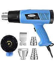 Mowis Heteluchtpistool met instelbare temperatuur met sproeiers voor krimpkous, embossing, doelgerichte kleurverwijdering, solderen