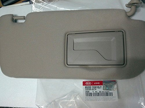 Kia Motors OEM Genuine 852022G010J7 Factory Front Passenger Right Inside Sun Visor 1-pc Beige For 07 08 09 10 Kia Optima : Magentis