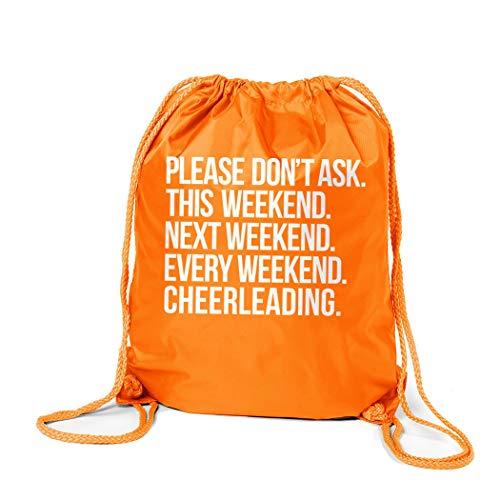 ChalkTalkSPORTS Cheerleading Sport Pack Cinch Sack | All Weekend Cheerleading | Orange -