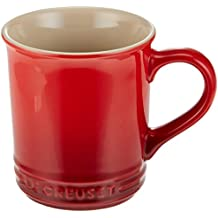 Le Creuset of America Stoneware Set of 2 Mugs, 12-Ounce, Cerise (Cherry Red)