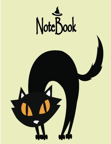 Notebook: Black Cat on drak yellow cover and Dot Graph Line Sketch pages, Extra large (8.5 x 11) inches, 110 pages, White paper, Sketch, Notebook journal (Black cat on yellow notebook) (Volume 1) -