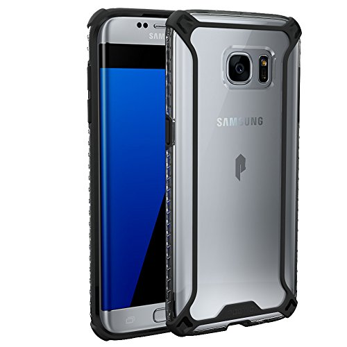 Galaxy S7 Edge Case, POETIC [Affinity Series] [Premium Thin][Corner Protection] No Bulk/Protection Where its Needed/Dual Material Protective Bumper Case for Samsung Galaxy S7 Edge Black/Clear