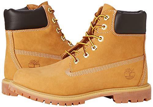 Timberland Damen 6 Zoll Premium wasserdicht Stiefel, Gelb (Wheat Nubuck), 38 EU 7