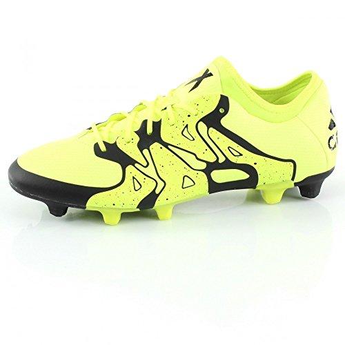 adidas X 15.1 FG/AG - Botas para hombre Gris / Negro / Amarillo