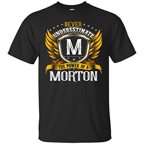 Men's Never Underestimate The Power of A Morton Shirt - Tshirt Black for $<!--$17.95-->