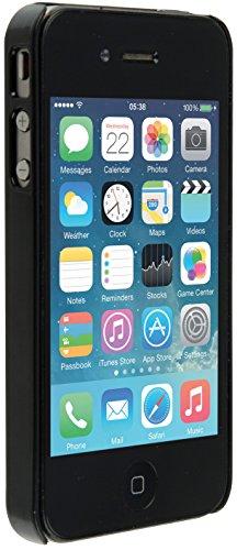 Trendz Hard Shell Clip-On Hülle Schutzhülle Case Cover für iPhone 4/4S - Schwarz