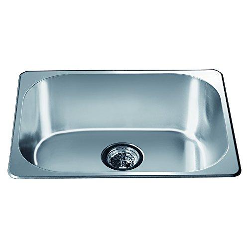 Dawn 3233 Top Mount Single Bowl Bar Sink, Polished Satin Finish