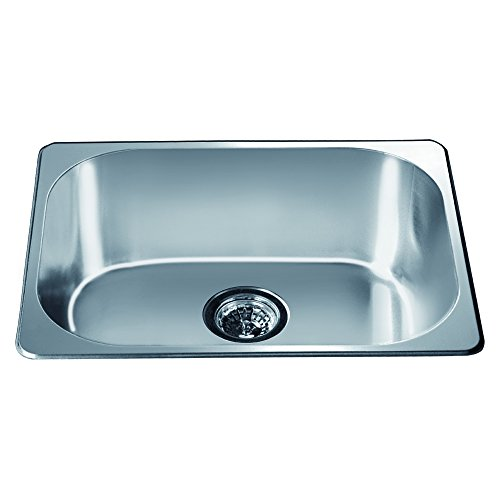 (Dawn 3233 Top Mount Single Bowl Bar Sink, Polished Satin Finish)