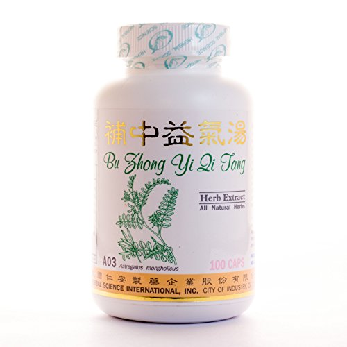 (Energy Enhancer Dietary Supplement 500mg 100 capsules (Bu Zhong Yi Qi Tang) A03 100% Natural Herbs)