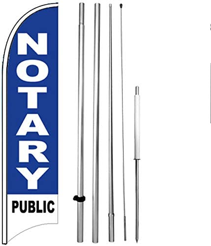bb Flag Only 4Less Notary Public Windless Swooper Flag 11.5 Tall Feather Banner Sign