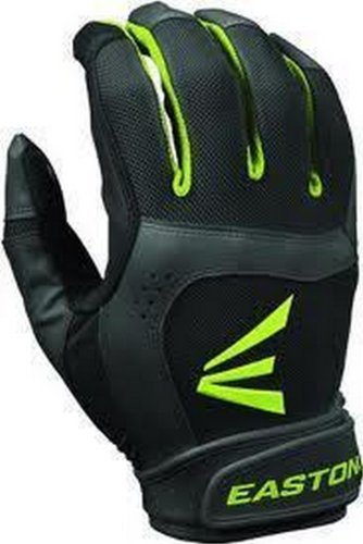 Fastpitch Softball Batting Glove - Easton 1 Pair Stealth Core Medium Black/Optic Fastpitch Womens Batting Gloves
